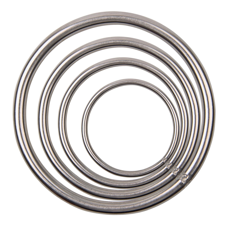 60mm-120mm Diameters Stainless Steel Welded O Round Rings Welding Loop For Fishing Tackle Marine Boat Yoga Hanging Rings
