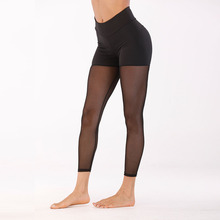 Women Sexy Mesh Patchwork See Through Leggings Fitness High Waist Workout Quick Dry Pants Push Up Sport Yoga