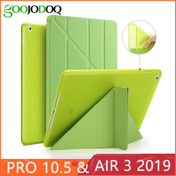 For iPad Pro 10.5 Case iPad Air 3 2019 Funda Slim PU Leather+Silicone Soft Back Smart Cover for iPad Pro 10.5 inch 2017 Case
