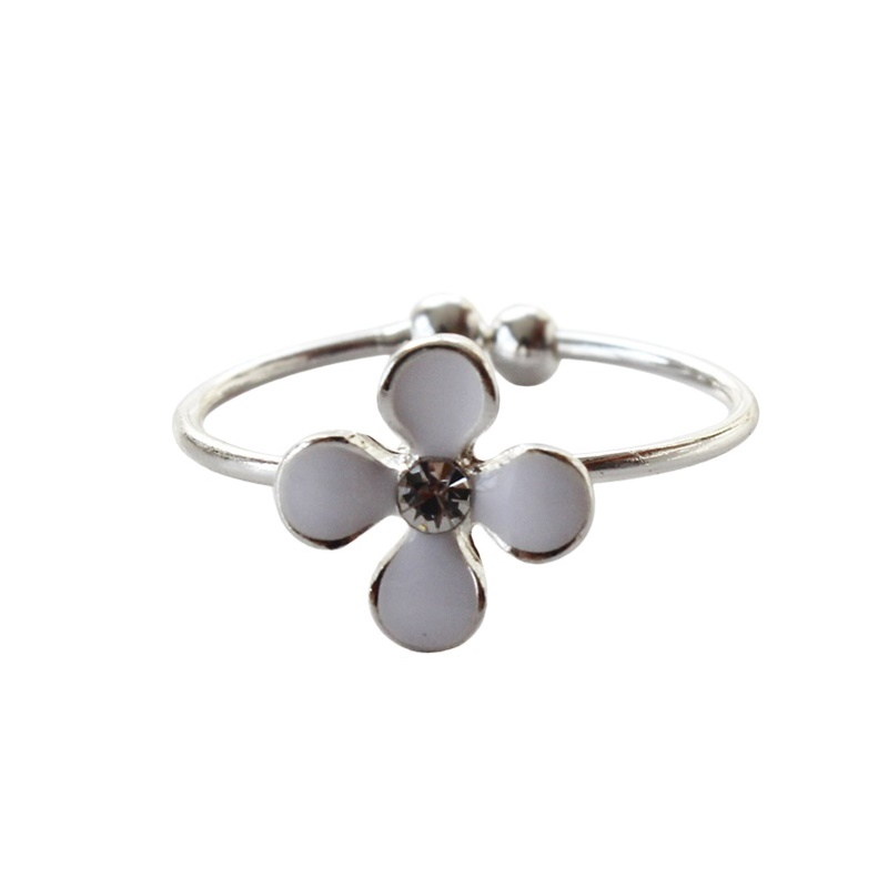 Romantic Snowflake Women Rings Star Four Leaves Minimalist Jewelry Anillos Mujer Fashion Lovely Fine Rings For Women Girls in Rings from Jewelry Accessories