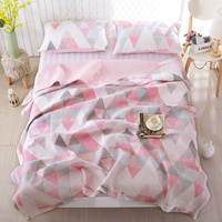 Summer Cotton Air conditioning blanket Quilt Bed cover set Mattress topper Pillowcase couvre lit colcha de cama
