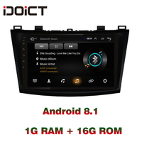 IDOICT Android 8.1 Car DVD Player GPS Navigation Multimedia For Mazda 3 Radio 2008 2009 2010 2011 2012 2013wifi