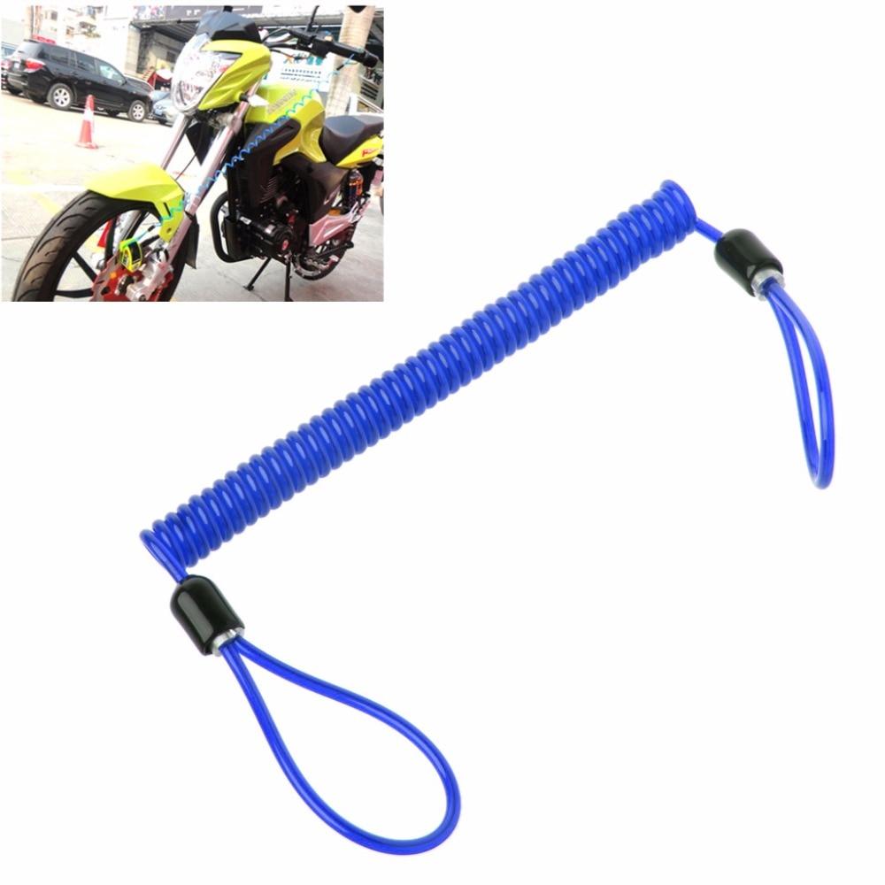 Anti Thief Motorbike bicycle Wheel Disc Brake Bag Reminder Spring Cable lock SK