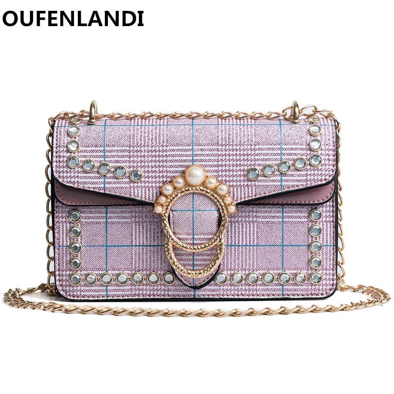 Oufenlandi известный брард украшения из металла fashionbags desiger Сумки сумки на плечо и высокое качество цепь сумка Crossbody сумка ...