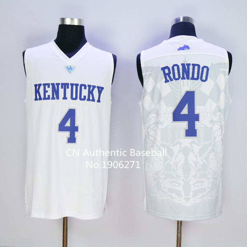 new style 82c42 fa1ca 2016 #4 rajon rondo kentucky jersey Stitched 2016 Kentucky ...