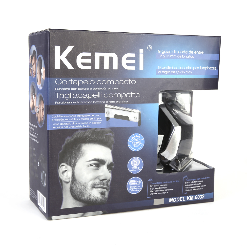 KEMEI Professional Electric Shaver Hair Clipper Haircut Beard Trimmer with 9 Trimming Combs Hair Cutting Machine For Men Baby 5