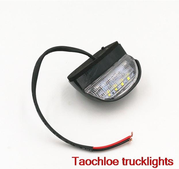 100x 12V 24V 4led LED License Plate Light Rear Tail Number Lamp Bulbs UTE Boat Trailer