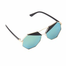 HW2016 NEW arrival  Summer  Women Sunglasses Polygon Color Film Big Frame Cool Best Seller
