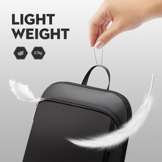 Slim Laptop Backpack Men 15.6 inch Office Work Men Backpack Business Bag Unisex Black Ultralight Backpack Thin Back Pack