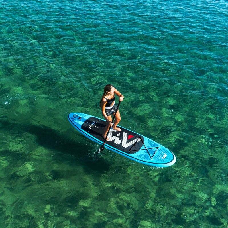 2019 planche de surf 300*76*12 cm sup pad AQUA MARINA vapeur gonflable SUP stand up paddle board pêche kayak gonflable laisse siège - 3