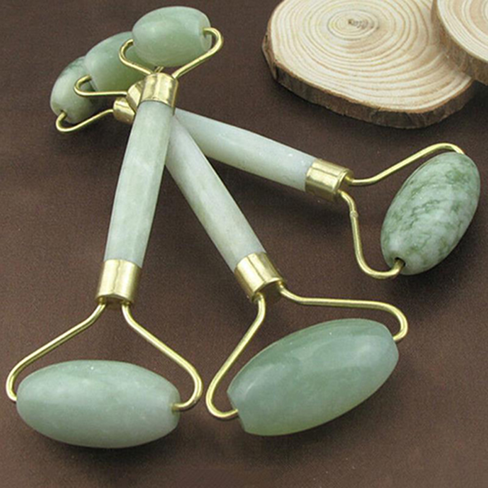 Natural Jade Facial Slimming Roller Massage Anti Wrinkle Anti Aging Beauty Skin Care Tool Jade Roller Massage for Face