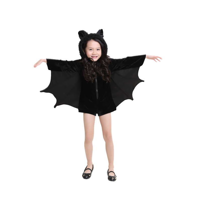 New Costume Halloween Children Girls Rompers Bat Cosplay Costumes For Children Clothing Dance Parties sixty one Mounted DS Suits|costumes for children|costumes for|costume halloween - title=