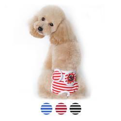 Pet одежда полосатый темно-физиологические брюки собака гигиены менструального брюки Pemale собака брюки сиамские ремень зоотоваров S-XL