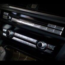 Couvercle de bouton de panneau de climatisation multimédia, autocollant pour BMW série 5 f10 f18, accessoires automobiles