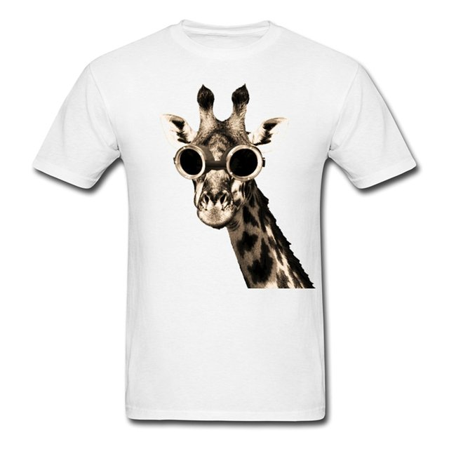 Steampunk Giraffe With T-Shirt 100% cotton