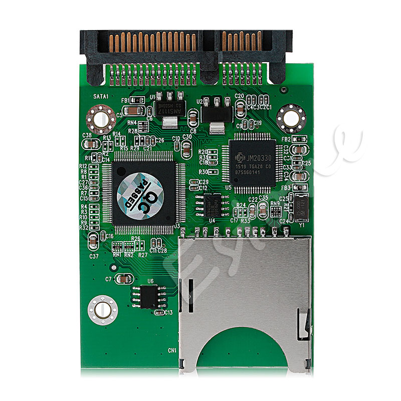 Sintech SD/SDHC/SDXC/MMC Flash Memory Card To SATA Adapter As 2.5