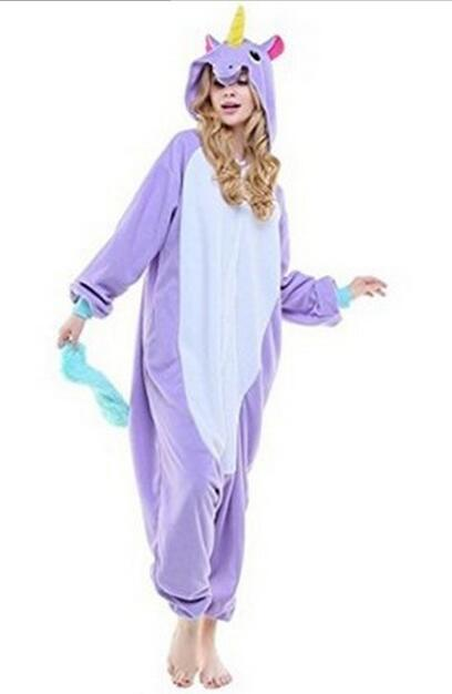Kigurumi New Winter Sleepsuit Adult Cartoon Unicorn Onesie Kigurums Unisex  Animal Onesies Cosplay Costumes Sleepwear Pajamas 5bf02cba644a