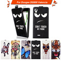 High quality fashion cartoon pattern flip up and down leather case for Doogee DG800 Valencia ,Free gift