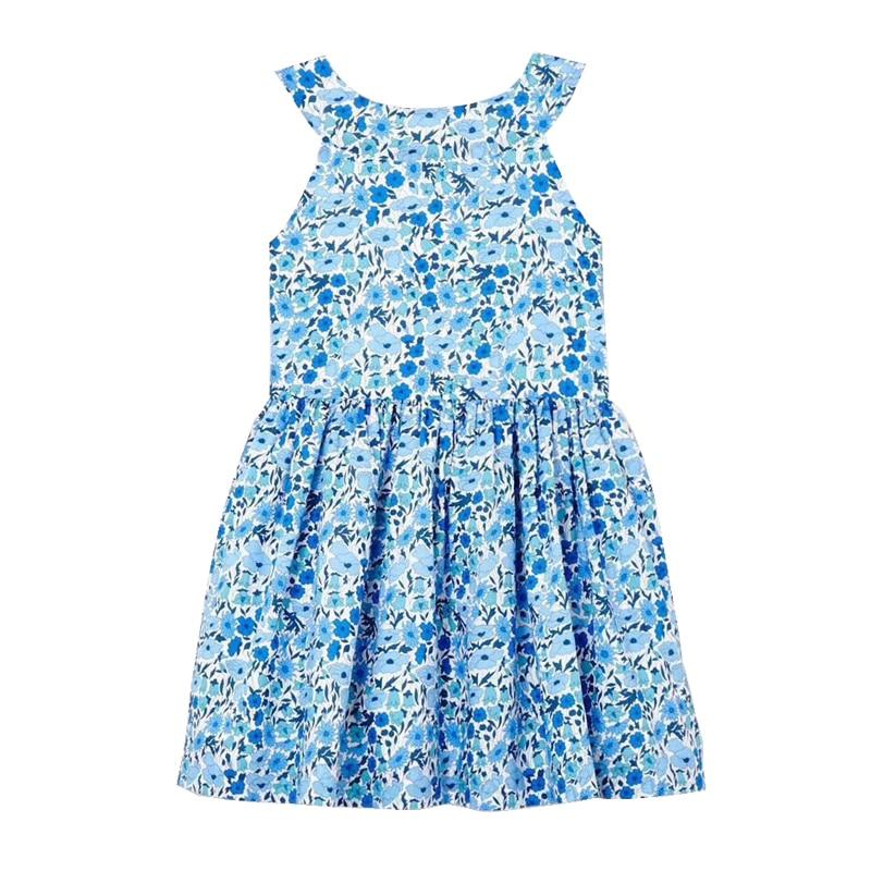 J Brand Girl  Print Dress Blue  Baby Girl Clothes  Princess DressJ Brand Girl  Print Dress Blue  Baby Girl Clothes  Princess Dress