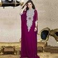 2016 новый кафтан долго дубай мусульманин фиолетовый кафтан Abayas арабский турецкий для продажи вечерние халат Abayas для женщина исламская одежда