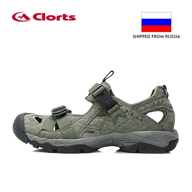 Русский склад Clorts летние сандалии для Для мужчин PU легкие пляжные сандалии быстросохнущие сандалии для прогулок SD-206