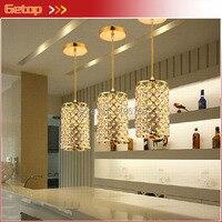3pcs Set Restaurant Lamp Chandelier Modern Creative Single Head Pendant Lamp Dining Room Corridor Bar Crystal