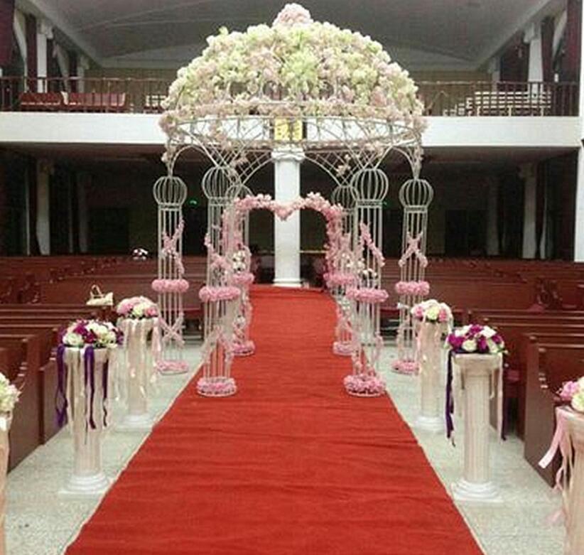 New wedding ironwork six-pillar ceremony pavilion, outdoor Princess Pavilion arch