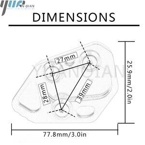 Image 5 - Боковая подставка для мотоцикла, увеличенная подножка с ЧПУ, Расширительная пластина для BMW F800R 2009 2015 R1200S 06 08 HP2 SPORT 08 10
