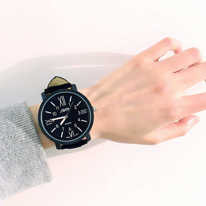Retro Arabic Digital Male Female Student Watches Belt Trend Big Dial Boy Girl Youth Watch 目