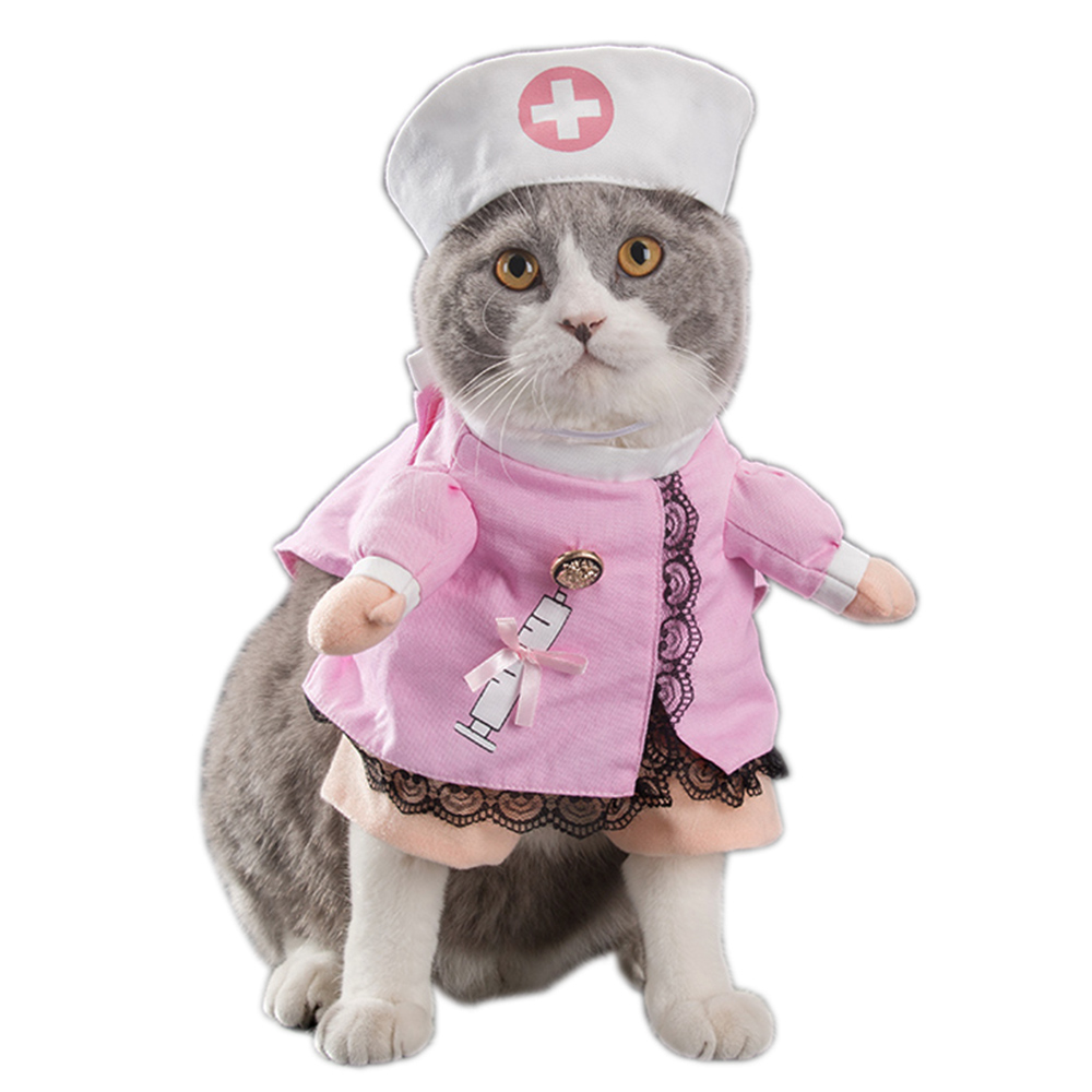 Pet Costume Nurse Doctor Cosplay Clothing Clothes for Dogs Cat Funny Apparel