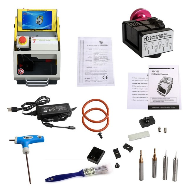 US $2395 0 |SEC E9 CNC Automated Key Cutting Machine Work on Car, Truck,  Motorcycle, House Key, Dimple & Tubular Keys-in Code Readers & Scan Tools