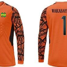 121f989fc6f Captain Tsubasa Japanese Football Nankatsu Team Goalkeeper Wakabayashi  Genzo Cosplay Tee Shirt Soccer Jersey Suit(. 4 Colors Available