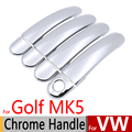 Para VW Golf 5 Mk5 Chrome Handle Covers Guarnição Set para volkswagen 1 k 2004-2009 3 & 5 gti porta acessórios do carro styling 2005 2007 2008