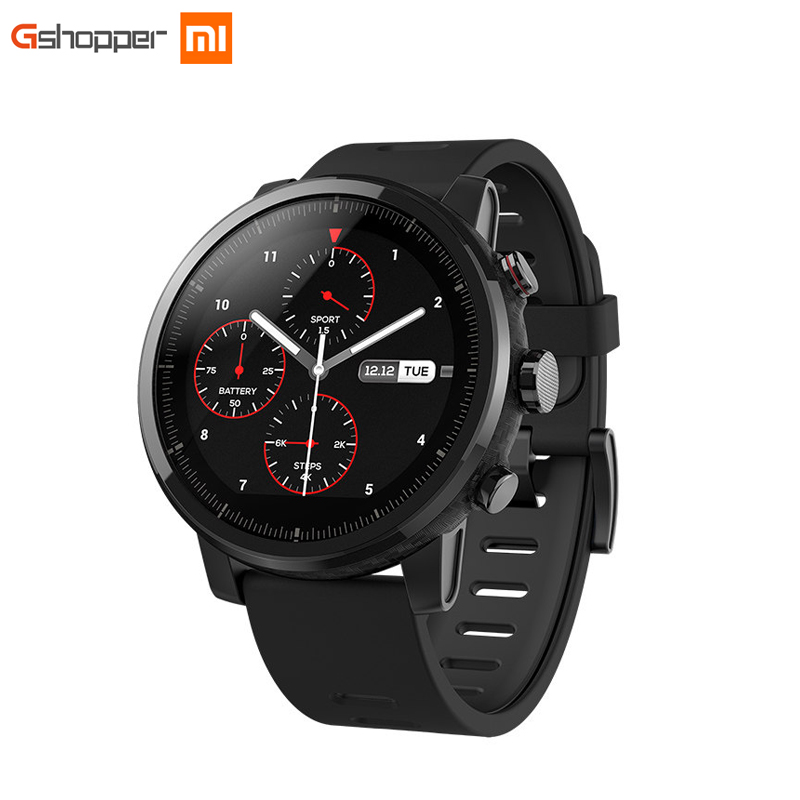 Xiaomi HUAMI AMAZFIT Strato Sports Watch 2 Bluetooth GPS 512MB/4GB 11 Kinds of Sports Modes 5ATM Water Resistant for Android iOS