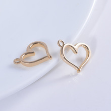 10PCS 15.5x12.5MM 24K Champagne Gold Color Plated Brass Hearts Charms Pendants High Quality Diy Jewelry Accessories