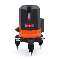 GOXAWEE 5 Lines 6 Point Laser Level 360 Degree Vertical Horizontal Self Leveling Cross 3D Rotary