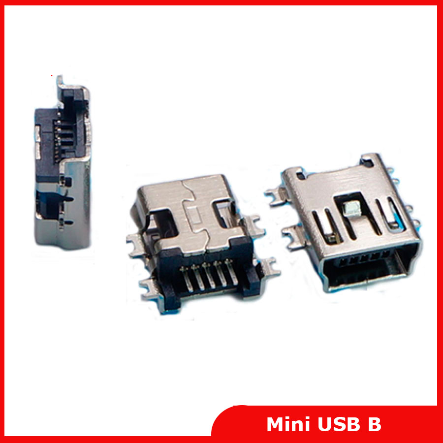 <font><b>50</b></font> pcs Mini <font><b>USB</b></font> connector B type <font><b>5pin</b></font> SMT sink 1.7 <font><b>USB</b></font> socket female <font><b>jack</b></font> 2.0 Free shipping image