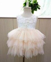 Au détail 2017 Fille d'été dentelle princesse tutu robe, princesse robe, robe d'été fille, RM03