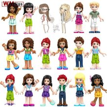 Single Legoings Friends Girls Club Party with Beautiful Dress Emma Mia Dancet Mini Doll Building Blocks Baby Toys for Children(China)