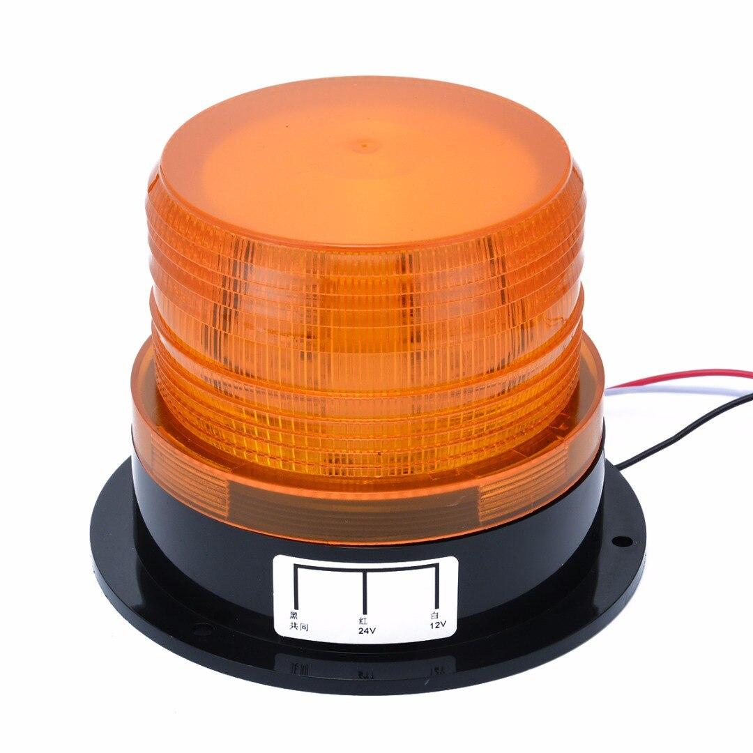 Mayitr Car Lights 12V-24V Car LED Flashing Strobe Beacon Emergency Warning Light Lamp Amber Bulbs