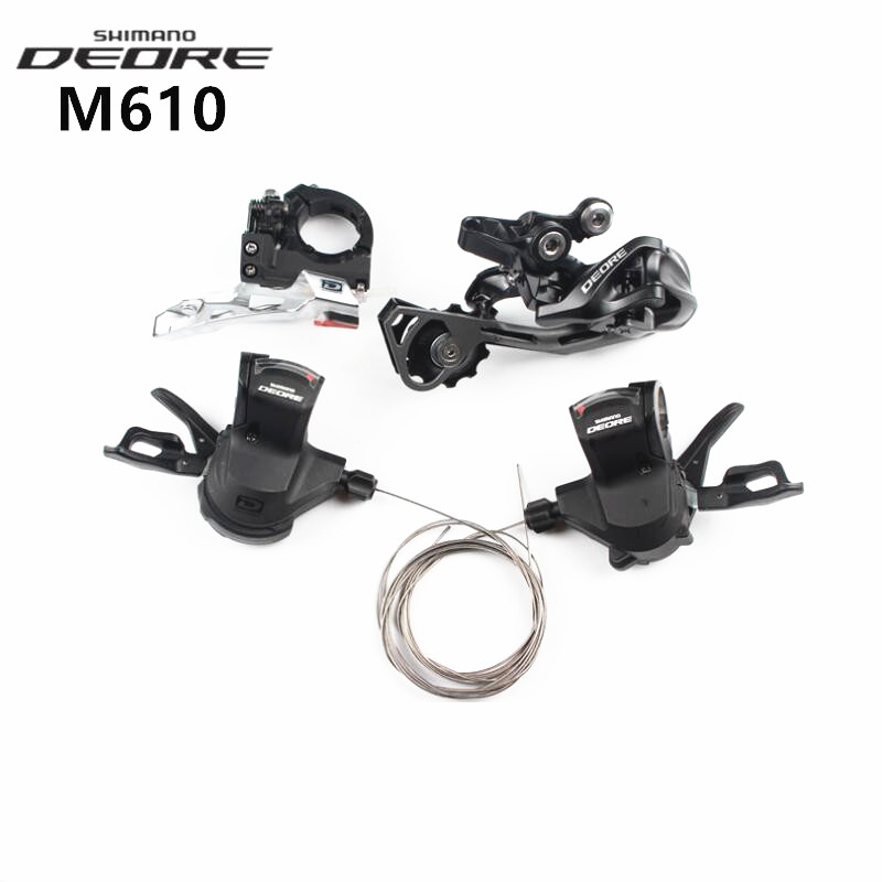 цена на SHIMANO DEORE M610 Trigger Shifter & Front Derailleur & Rear Derailleur Group Set For MTB Mountain Bicycle