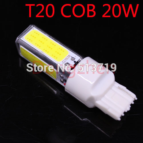 2014 new 1x T20 4COB High Power LED auto W21W 7440 Projector Turn Tail Signal DRL Light Bulbs Xenon White Car Styling