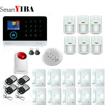 SmartYIBA APP Remote Control WiFi GPRS GSM Wireless Alarm System RFID card Arm Disarm for smart Home Security Alarm Kit