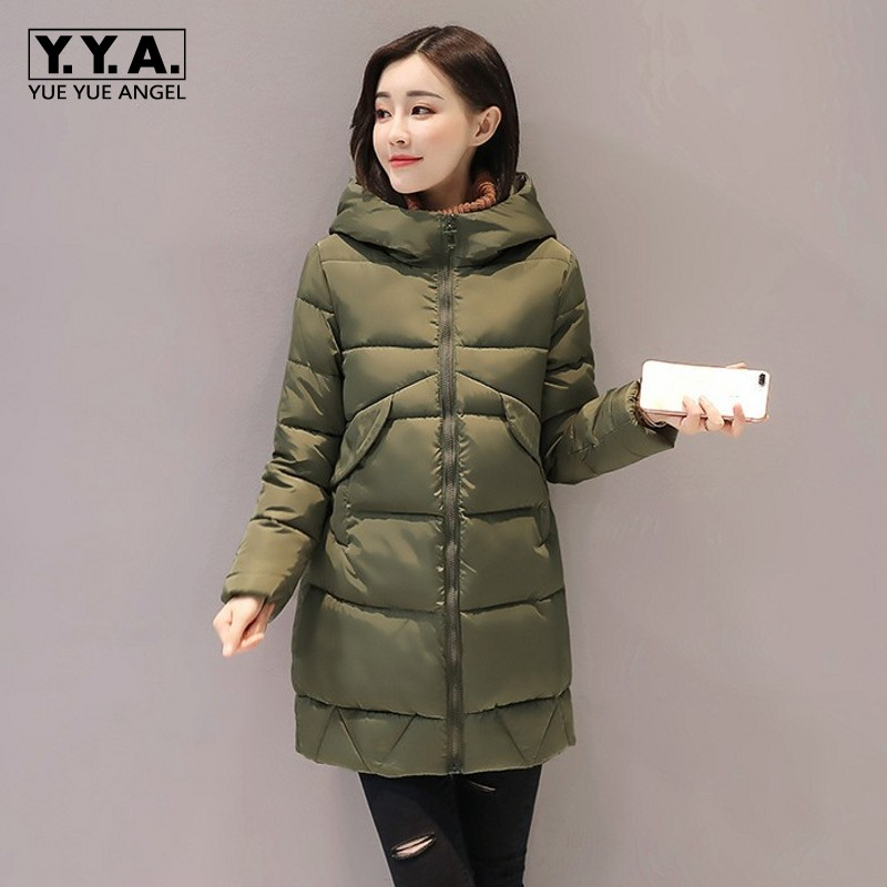 Hooded Winter Womens Jacket Classic Thick Thermal Down Jacket Loose Fit Coat Female Casual Outwear Overcoats Large Size M-2XL winter jacket women hooded windbreaker thick warm long style coat female loose fit korean fashion overcoats zipper outwear coats