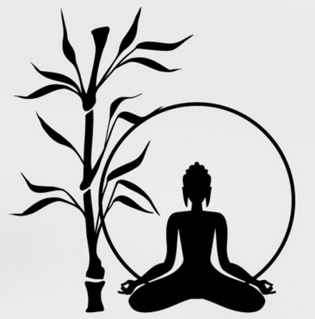 Buddha wall sticker buddha tree bamboo relaxation zen meditation mura art wall sticker yoga room bedroom wall decal home decor in wall stickers from home