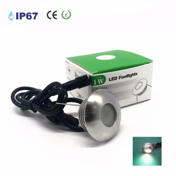 1W LED Garden Flooring Light DC12-24V Deck Lights IP67 Waterproof Recessed Terrace And Garden Decoration Lamp Step Light CE image