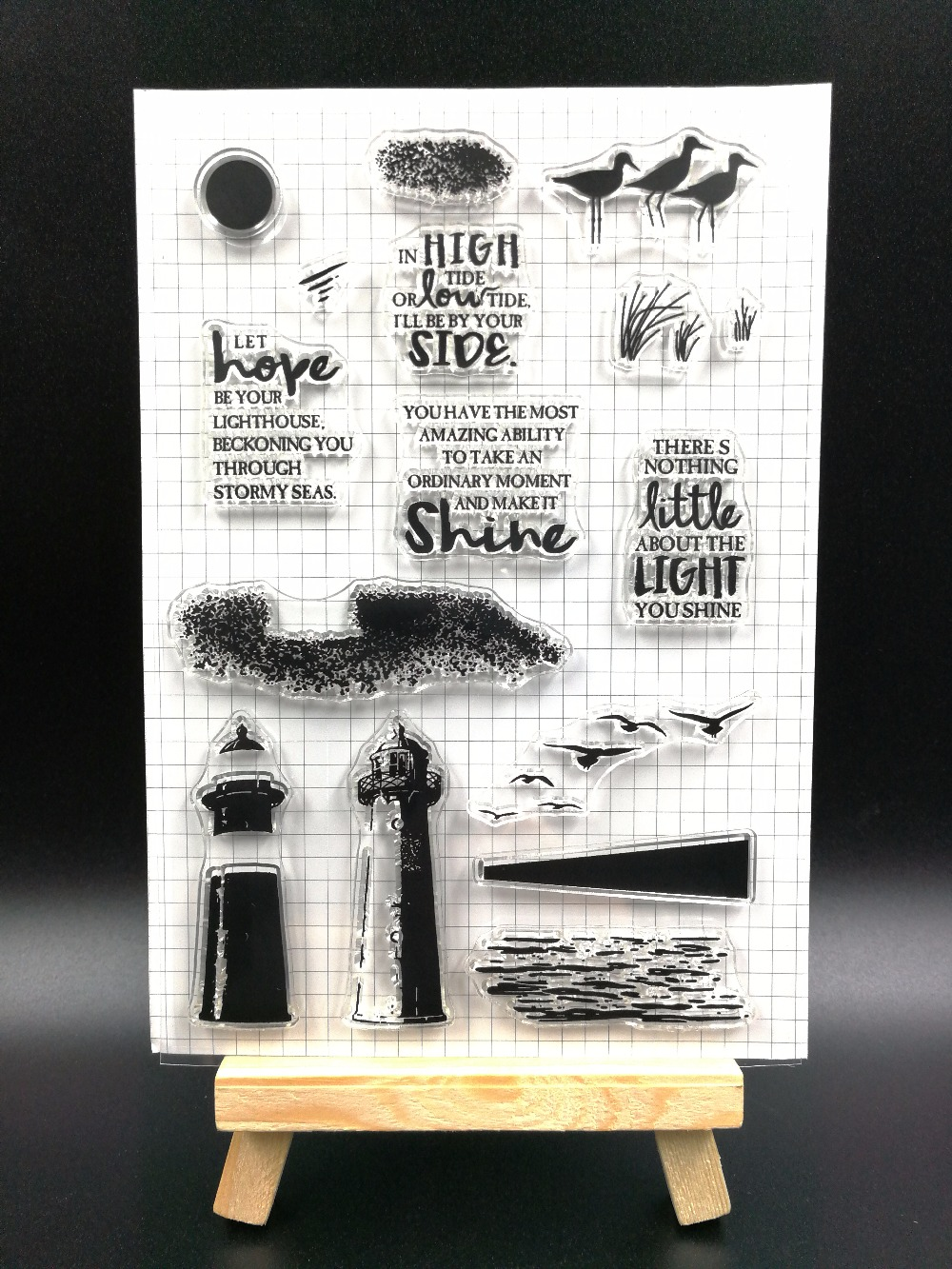 Lighthouse  Transparent Clear Silicone Stamp/Seal for DIY scrapbooking/photo album Decorative clear stamp sheetsH092