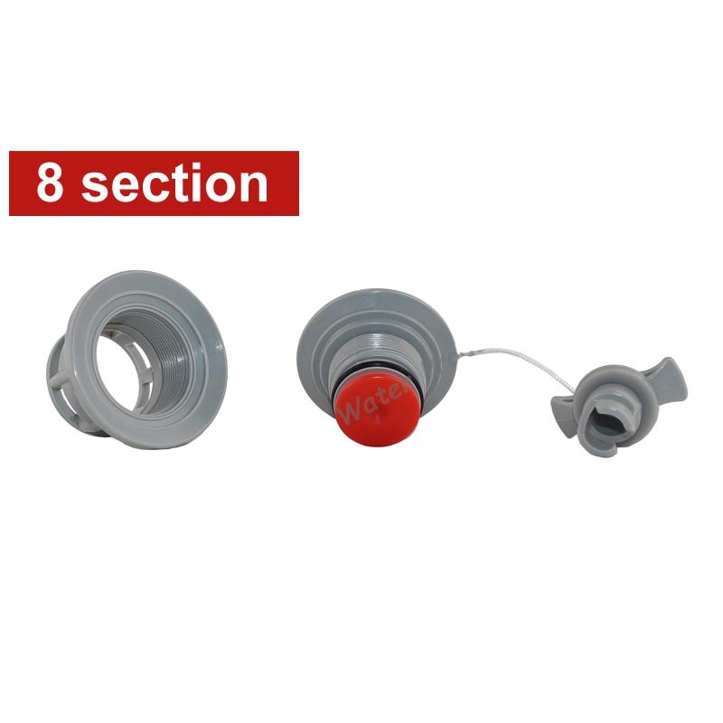 8 섹션 공기 밸브 스크류 밸브 pvc 풍선 낚시 보트 카약 고무 보트 나사 보스턴 밸브 공기 보안 A09024