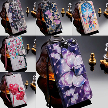 3D Butterfly Pattern Flip Leather Wallet Card Slot Case Cover Stand For