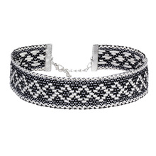 Fesyen yg mencekik kalung wanita kapas handwoven tali perhiasan simpulan barang kemas nr3636